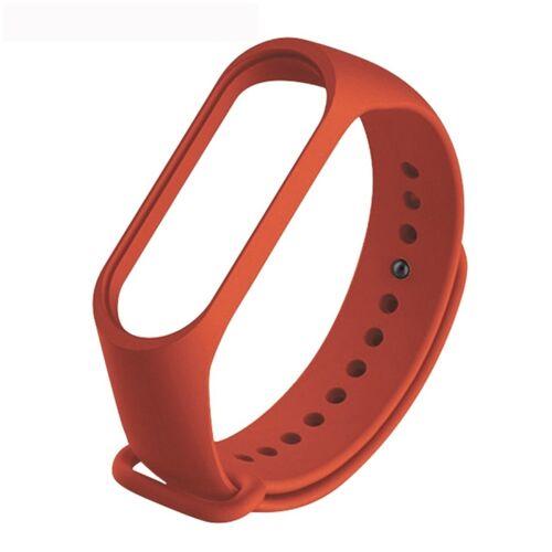 Xiaomi Pure Color Soft TPU vervangende Horlogebanden voor Xiaomi mi band 4 host niet inbegrepen (Orange)