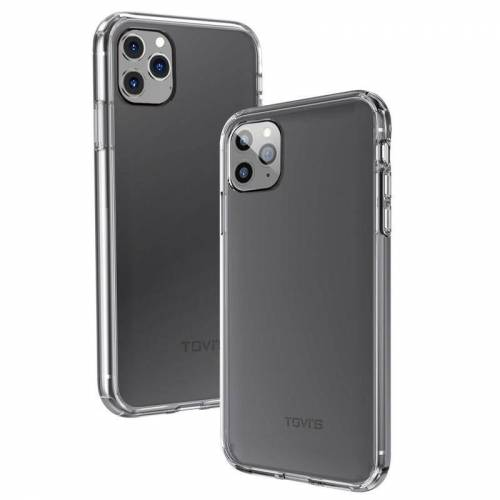 Apple Voor iPhone 11 Pro TGVIS proeverij Blue Series PC + TPU schokbestendige beschermhoes (transparant)