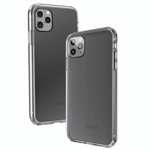 Apple Voor iPhone 11 Pro Max TGVIS proeverij Blue Series PC + TPU schokbestendige beschermhoes (transparant)