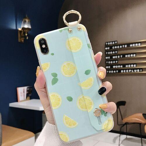 Citroen patroon polsband TPU Case voor iPhone XS Max (citroen patroon model A)