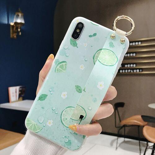 Citroen patroon polsband TPU Case voor de iPhone XS Max (citroen patroon model C)