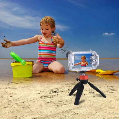Apple HAWEEL 40m / 130ft waterdichte duiken huisvesting Foto Video nemen dekken onderwaterbehuizing voor de iPhone 7 & 8(Transparent)