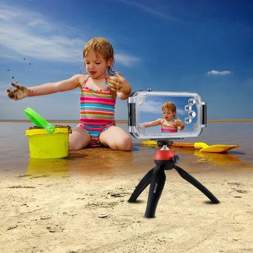 Apple HAWEEL voor iPhone X 40m / 130ft waterdichte duiken huisvesting Foto Video nemen onderwater Cover Case(Black)