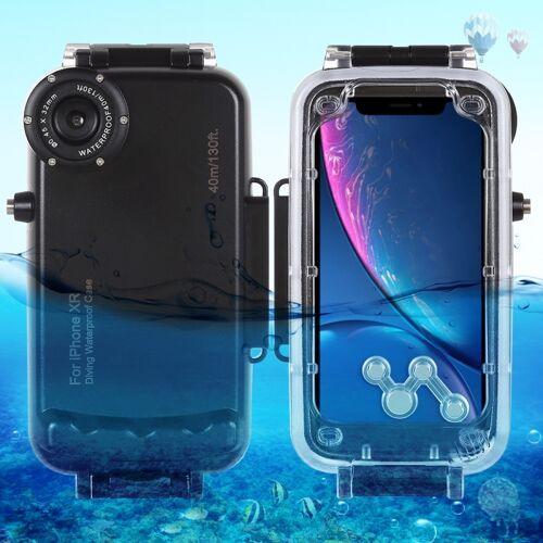 HAWEEL 40m / 130ft waterdichte duiken huisvesting Foto Video nemen dekken onderwaterbehuizing voor iPhone XR(Black)