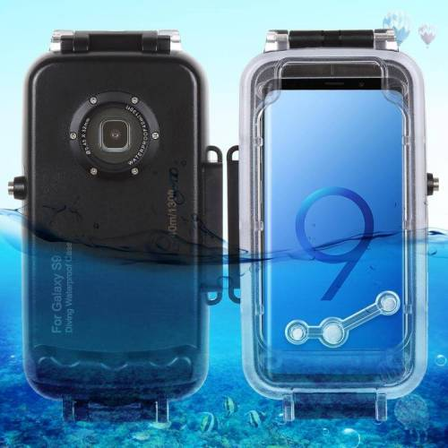 Samsung HAWEEL 40m / 130ft waterdichte duiken huisvesting Foto Video nemen onderwater Cover Case voor Galaxy S9(Black)