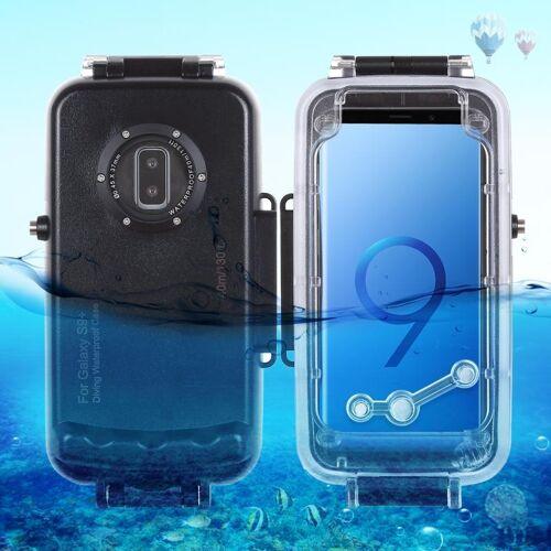 Samsung HAWEEL 40m / 130ft waterdichte duiken huisvesting Foto Video nemen onderwater Cover Case voor Galaxy S9+(Black)
