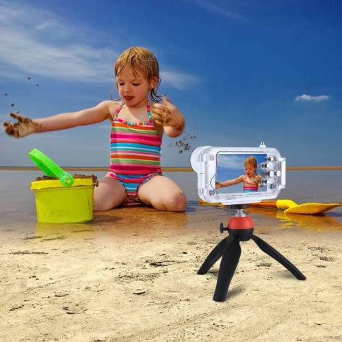 Apple PULUZ voor iPhone 8 & 7 40m / 130ft waterdichte duiken huisvesting Foto Video nemen onderwater Cover Case(White)