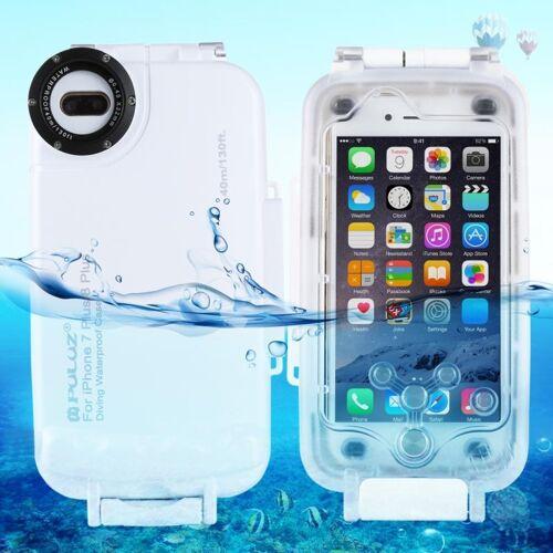 Apple PULUZ 40m / 130ft waterdichte duiken huisvesting Foto Video nemen dekken onderwaterbehuizing voor iPhone 8 Plus & 7 Plus(White)