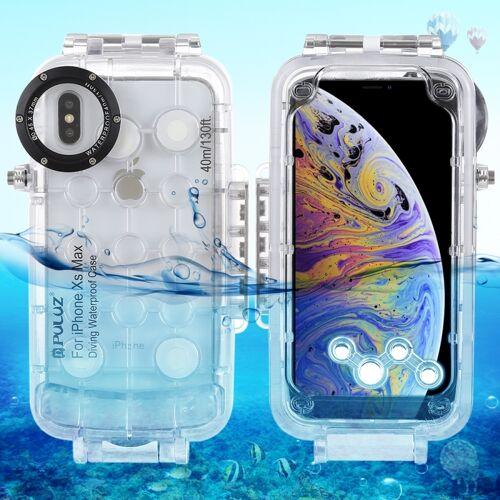 Apple PULUZ 40m / 130ft waterdichte duiken huisvesting Foto Video nemen dekken onderwaterbehuizing voor iPhone XS Max (transparant)