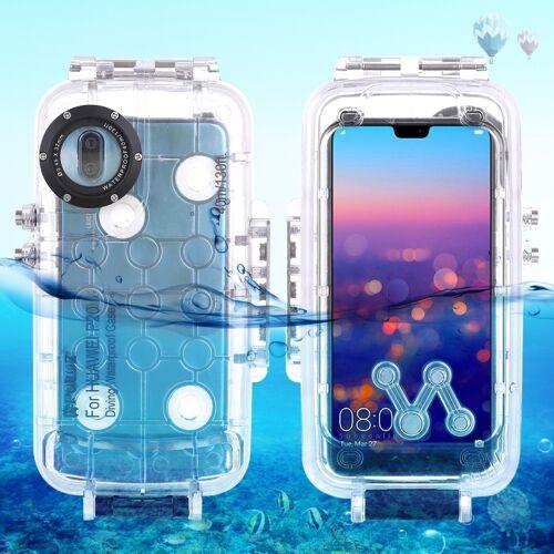 Huawei PULUZ 40m / 130ft waterdichte duiken huisvesting Foto Video nemen onderwater Cover Case voor Huawei P20(Transparent)
