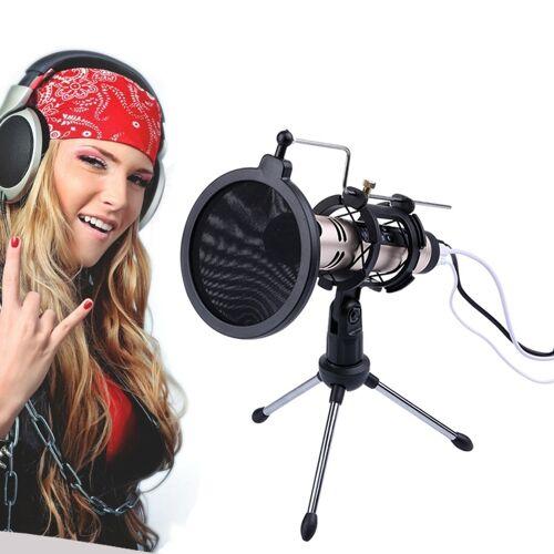 PS-5 universele Live uitgezonden beugel statief houder met Anti-spray Net & microfoon Clip & Shockproof Clip voor iPhone Galaxy Sony Lenovo HTC Huawei en andere Smartphones