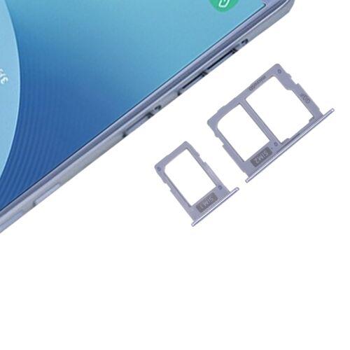 Samsung SIM-kaarthouder + SIM & Micro SD Card lade voor Galaxy J3 (2017) Dual SIM / J330 & J5 (2017) Dual SIM / J530 & J7 (2017) Dual SIM / J730(Blue)