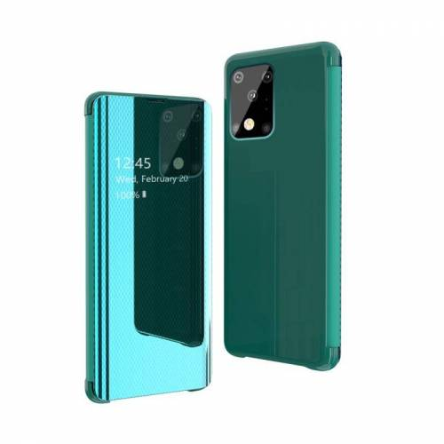 Voor Galaxy S20 Ultra Ultra Ultra Ultra-Thin Lightweight Grid Plated Mirror Telefoon Hoes (Groen)