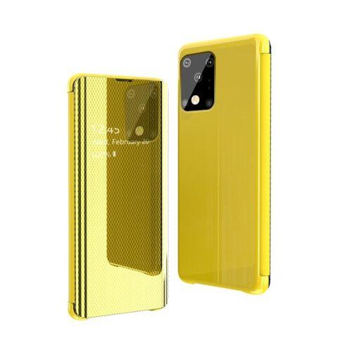 Voor Galaxy S20 Ultra Ultra Ultra Ultra-Thin Lightweight Grid Plated Mirror Phone Case(Geel)