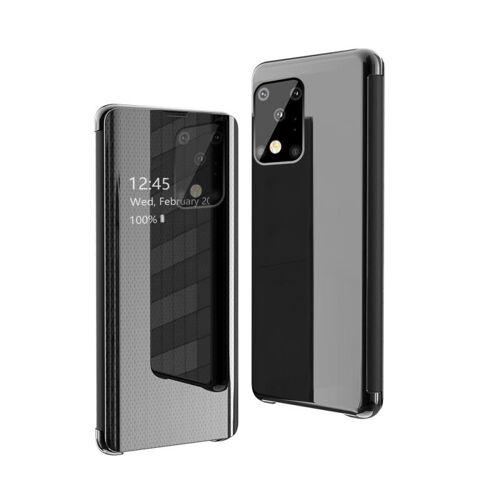 Voor Galaxy S20 Ultra Ultra Ultra Ultra-Thin Lightweight Grid Plated Mirror Phone Case(Zwart)