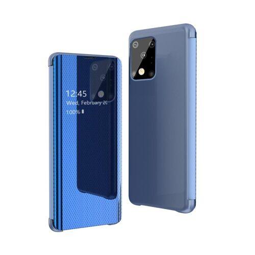 Voor Galaxy S20 Ultra Ultra Ultra Ultra-Thin Lightweight Grid Plated Mirror Phone Case(Blue)