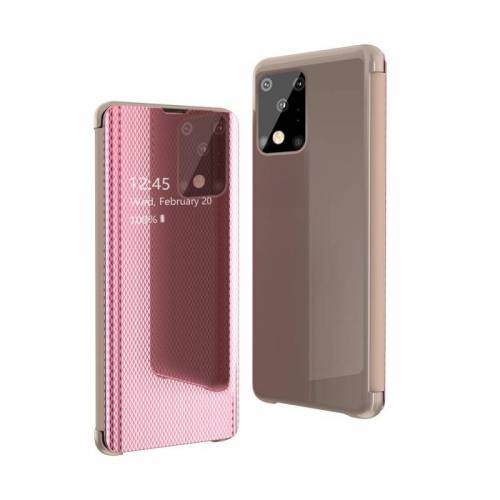 Voor Galaxy S20 Ultra Ultra Ultra Ultra-Thin Lightweight Grid Plated Mirror Phone Case (Rose Gold)