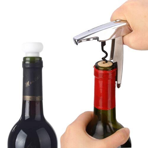 NiJia 2 in 1 draagbare wijn flesopener + wijn behoud apparaat rode wijnfles Stopper Cork