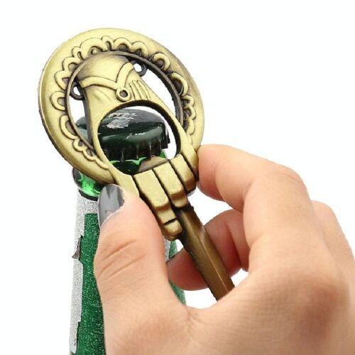 Creatieve bronzen retro sleutel vorm opener corkscrew Gift (oude bronzen)