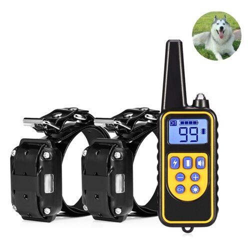 880-2 800 werven oplaadbare afstandsbediening halsband hond trainingsapparaat anti blaffen apparaat (zwart zwart)