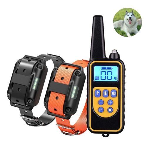 880-2 800 werven oplaadbare afstandsbediening halsband hond trainingsapparaat anti blaffen apparaat (zwart + oranje)
