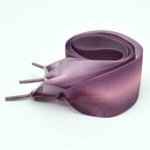 Kleur kleur 4cm breedte satijn zijde lint schoenveters sneaker sport schoenen witte schoenen veters lengte: 140cm (roze paars)
