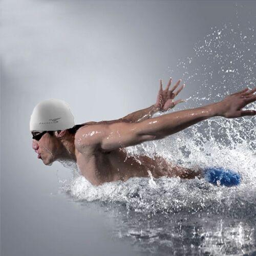 Zuivere kleur stijl elastische siliconen zwemmen Pet / hoed SC601(Grey) zwemmen