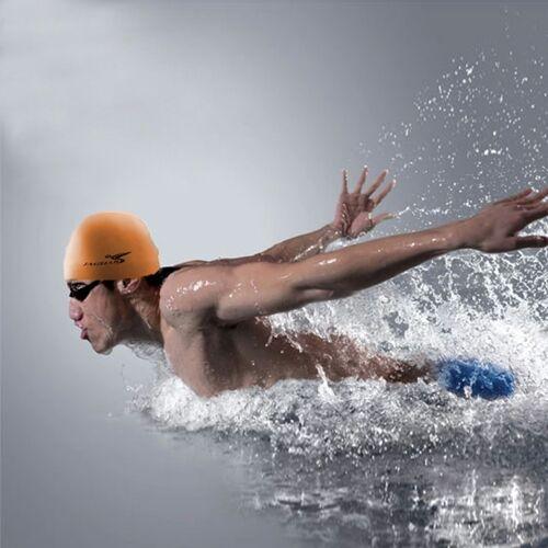 Zuivere kleur stijl elastische siliconen zwemmen Pet / hoed SC310(Orange) zwemmen