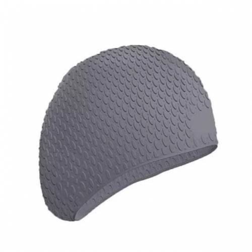 2 PC's siliconen waterdichte zwemmen Caps beschermen oren lang haar sport zwemmen Cap voor Adults(Gray)