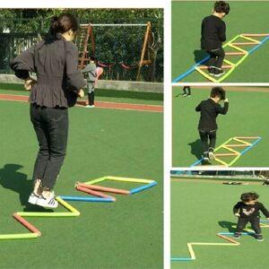21 secties/set kinderen Sense Fun spons Jump Lattice sport Jump touw ladder buiten ouder-kind spel Jump speelgoed