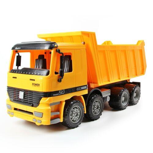 9998-2 model auto speelgoed grote dump truck kinderen speelgoed (geel)