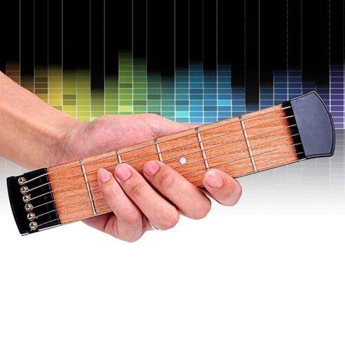 6 fret draagbare Pocket Guitar praktijk Tool Gadget voor Beginner Chord Vingeren praktijk Tool