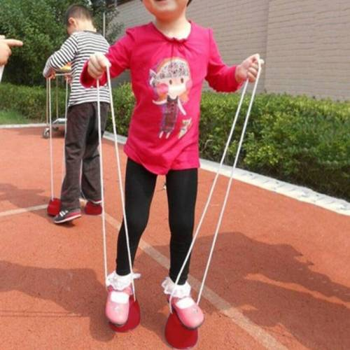 2 stks kleuterschool Toy Balance trainingsapparatuur kunststof dik sorghum willekeurige kleur leveren