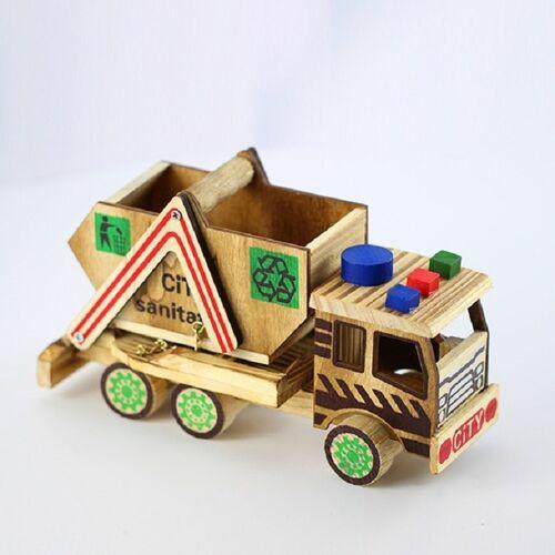 Houten Craft Gift Creative Color Sanitation Auto Model Home Decoratie Stijl: Sanitaire voorzieningen Voertuig