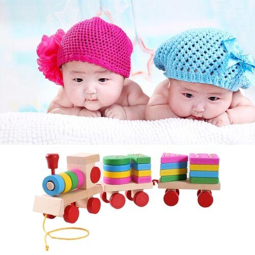Houten trein-Shape bouwstenen Toy Baby vroege leren opleiding Toy
