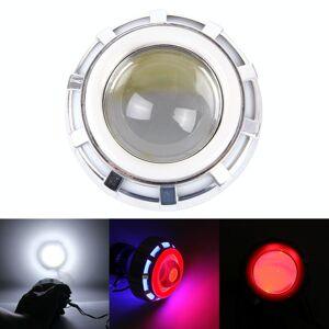 Motorfiets DC 12V-85V 30W 1200LM LED koplamp lamp met blauw rood hoek Ooglamp en rode duivel Ooglamp
