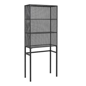 Nordal boekenkast wire metaal zwart 175 x 75 x 32