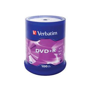 Verbatim DVD+R AZO Spindel Mat Zilver 100 stuks
