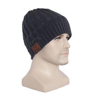3dkabel Bluetooth beanie muts grijs dames/heren