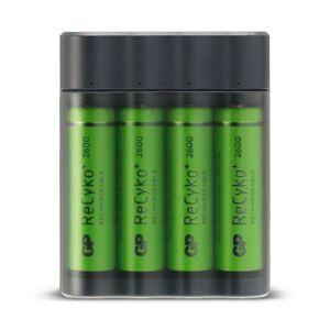 GP powerbank 2 in 1 Charge Anyway + 4 x AA 2600 mAh batterijen