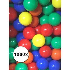 Merkloos Pakket van 1000 ballenbak ballen 6cm -