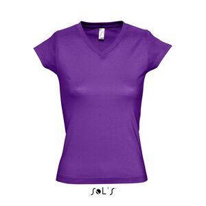 Sols Dames t-shirt V-hals paars 44 (2XL) -