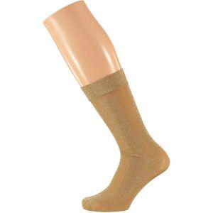 Sarlini 4x Paar gouden dames party glitter sokken lurex maat 36-41 36/41 -