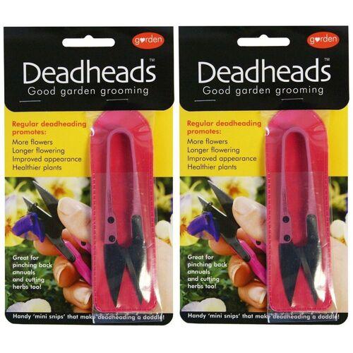 Merkloos 2x Roze schaartjes / snoeischaartjes voor bloemen en planten -