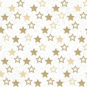 Ambiente 120x Servetten met gouden sterretjes 33 x 33 cm -