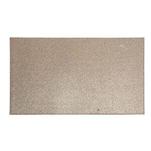 Bellatio Decorations 6x Rechthoekige glitter placemats/onderleggers bruin/goud 44 x 29 cm -