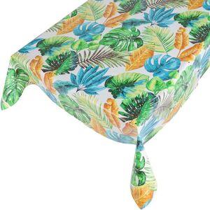 Merkloos Buiten tafelkleed/tafelzeil gekleurde jungle print 140 x 245 cm rechthoekig -