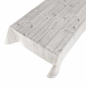 Merkloos Buiten tafelkleed/tafelzeil hout grijs 140 x 245 cm -