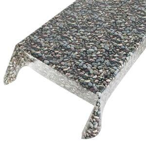 Merkloos Buiten tafelkleed/tafelzeil stenen motief 140 x 245 cm -