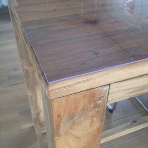 Merkloos Buiten tafelkleed/tafelzeil transparant 2 mm dik 90 x 200 cm -